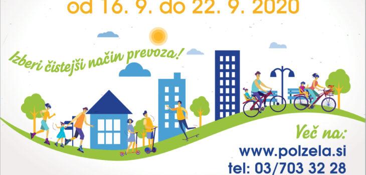 Evropski teden mobilnosti od 16. 9. do 22. 9. 2020